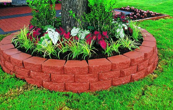 Photo retaining wall blocks design images retaining for Garden and its importance