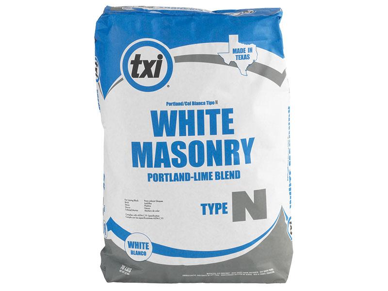 White Portland Cement : Whiz q stone txi white masonry cement type n