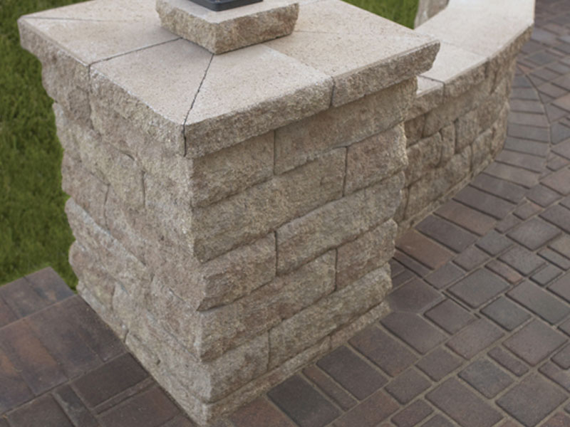 Whiz Q Stone Anchor Highland Freestanding Wall Column