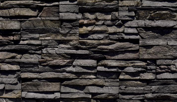 Whiz Q Stone Black River Stacked Stone